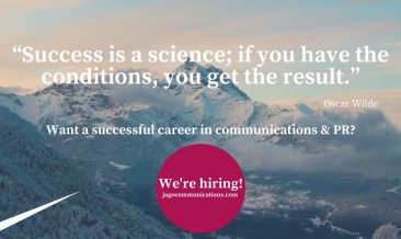 We're Hiring Communications Managers