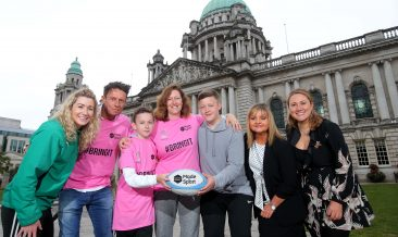 Charge Down to The Women's Rugby World Cup 2017 this August: Eliza Downey, a former Ireland rugby player, along with Q Radio's Stephen and Cate, and Tourism NI's Susie Brown, were at Belfast City Hall this week. The team were encouraging everyone, including Tracy Cuthbert and her sons Adam (12) and Joshua (15) from Dundonald, to test their kicking skills and be inspired by the world-class players taking to Northern Ireland's pitches this August. A highlight of the sporting calendar in Northern Ireland this year, visitors from across the globe will be making their way to Belfast from the 22nd of August for the unmissable final stages of the biggest Women's Rugby World Cup to date.  Book your tickets and plan your short break: www.discovernorthernireland.com
